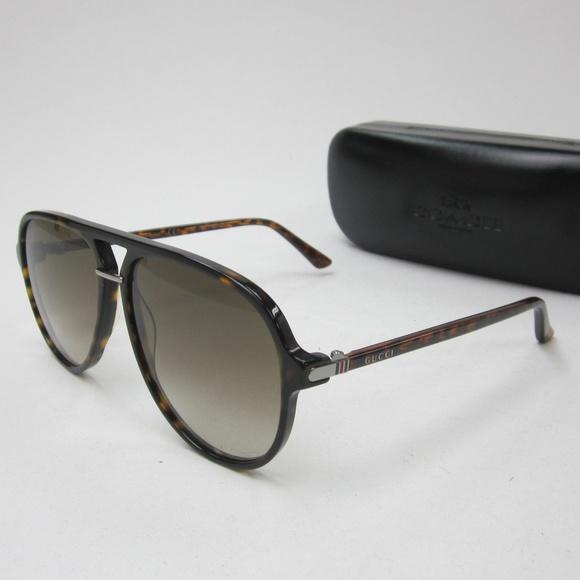 434fff7767f Gucci GG 0015S Aviator Sunglasses Italy OLN128. M 5b0c5f1e46aa7c0f35d9a703